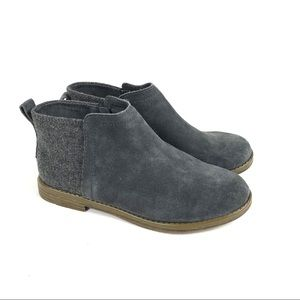 NEW! Toms suede flat boots gray youth 3.5